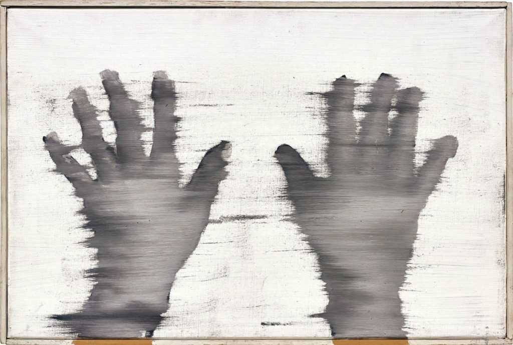 Blurred painting of hands